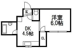 ファイン南6条[3階]の間取り