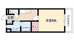 clair[108号室]の間取り