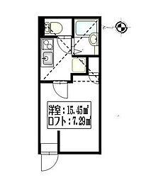 リーヴェルポート横浜山元町[102号室]の間取り