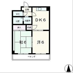 サンライズ山崎[4階]の間取り