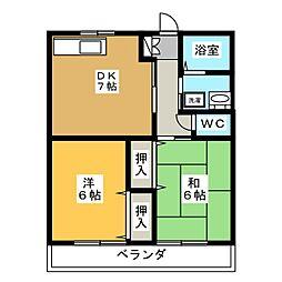 ピアハイツ青山A.B[2階]の間取り