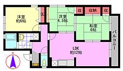 セジュールカツヤマ[2階]の間取り