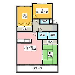 ラ・ファミーユI[1階]の間取り