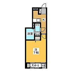 静岡県静岡市葵区弥勒2の賃貸アパートの間取り