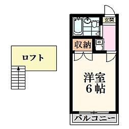 神奈川県大和市柳橋5丁目の賃貸アパートの間取り