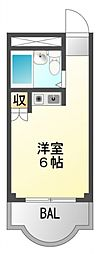 Collection江坂[4階]の間取り