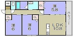 ロイヤルグランデ東陽 3階3LDKの間取り