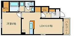 クラールブリーゼ A棟[1階]の間取り