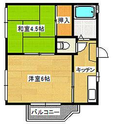 生活保護支援住宅 ロイヤルコーポフジ  内外キレイ[2階]の間取り