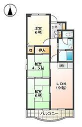 メゾンドノール A棟[4階]の間取り