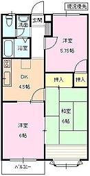 長野県長野市三本柳西3丁目の賃貸アパートの間取り