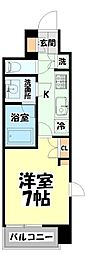 仙台市営南北線 北四番丁駅 徒歩10分の賃貸マンション 8階1Kの間取り