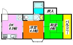 双葉・ハイツ 202号室[2階]の間取り