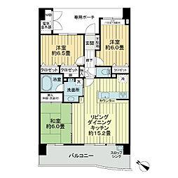 パインズマンション南柏フェアエール[5階]の間取り