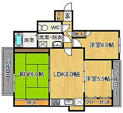 博多桶屋町ビル[9階]の間取り