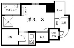 ライオンズマンション上六第3[5階]の間取り