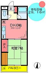 東京都足立区加平3の賃貸マンションの間取り