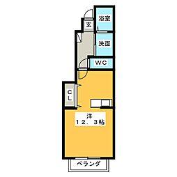 クレメント[2階]の間取り