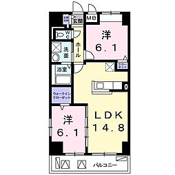 畑田町店舗付マンション[0512号室]の間取り