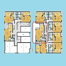 札幌市営南北線 北12条駅 徒歩7分の賃貸マンション 3階1LDKの間取り