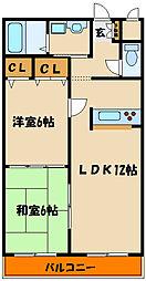 兵庫県明石市日富美町の賃貸マンションの間取り