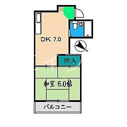 アーバンハイツ徳平[2階]の間取り