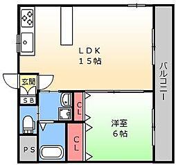 ビーボ21[305号室]の間取り