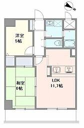 埼玉県さいたま市南区南本町1丁目の賃貸マンションの間取り