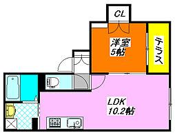 FERIO 103号室[1階]の間取り
