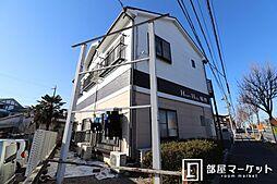 愛知県岡崎市稲熊町字後田の賃貸アパートの外観