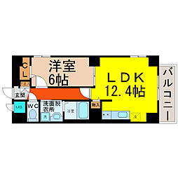 P−SQUAREShumoku[7階]の間取り