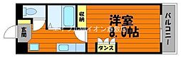 岡山県倉敷市二子の賃貸マンションの間取り
