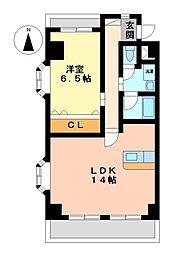 シャルマンヤマフク[3階]の間取り