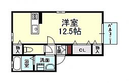 トウスケハウス[105号室号室]の間取り