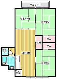UR住吉団地[1-901号室]の間取り