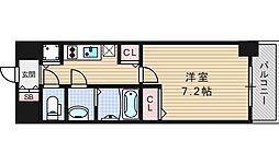 エステムコート南堀江IIIチュラ[9階]の間取り
