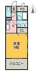 クライミングマンション[203号室]の間取り