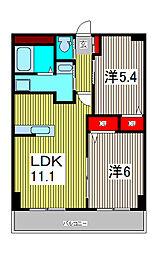 Chateau lien[1階]の間取り