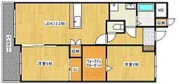 翔桜館[302号室号室]の間取り
