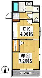 ジュネス合川[2階]の間取り