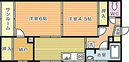 松中ビル[301号室]の間取り