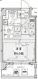 JR京浜東北・根岸線 大森駅 徒歩10分の賃貸マンション 3階1Kの間取り