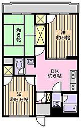 メゾンクレールI[402号室]の間取り