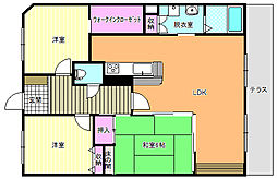 駒川5丁目アパート[1号室]の間取り