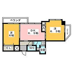 柊五番館[4階]の間取り