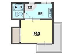 前川ハイツ[301号室]の間取り