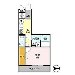 オッツ新鎌ヶ谷[3階]の間取り