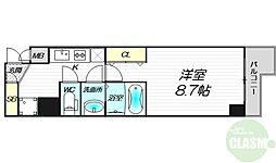 PHOENIX新大阪 3階1Kの間取り