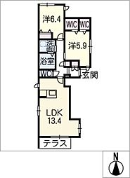 仮)小本本町二丁目メゾン[1階]の間取り