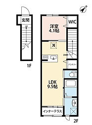 (仮称)水巻町猪熊6丁目新築アパート[2階]の間取り